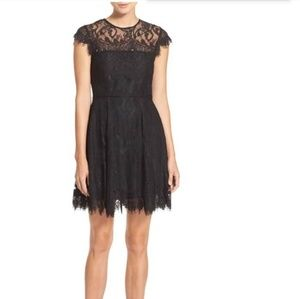 Modcloth BB Dakota Rihanna Eyelet Lace Black Dress